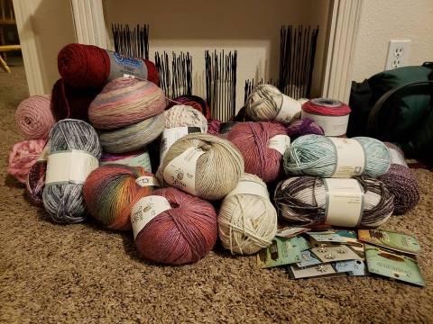 Yarn sales at Joann Fabric and Hobby Lobby