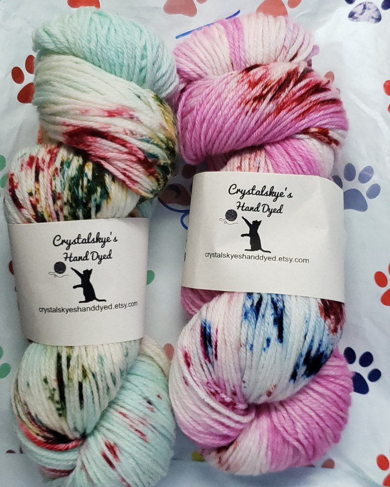 Crystalskye's Hand Dyed Yarn Review