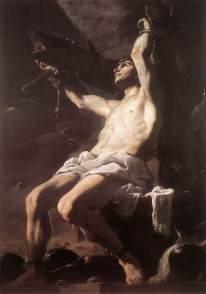 San Sebastián, Mattia Preti, c. 1657. Oil on Canvass. 240 x 169 cm. Museo de Capodimonte, Naples, Italy.