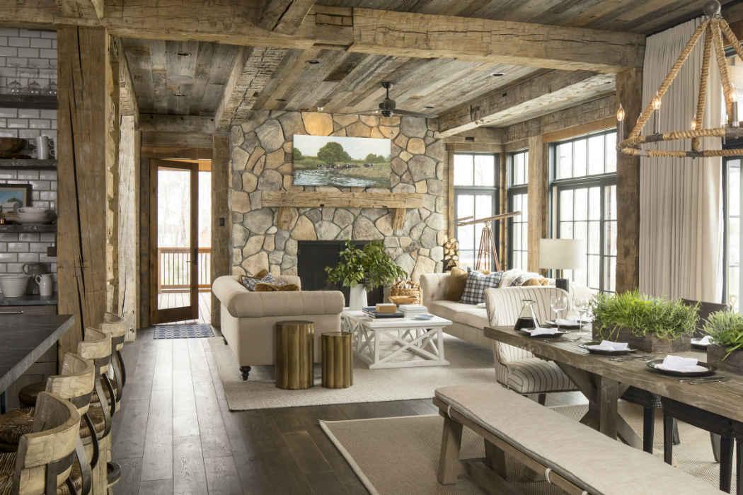 Rustic Lake House Design - Luck, WI - Martha O'Hara Interiors