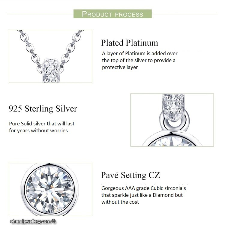 Gorgeous Cubic Zirconia Necklace Stamped 925 CZ FREE SHIPPING