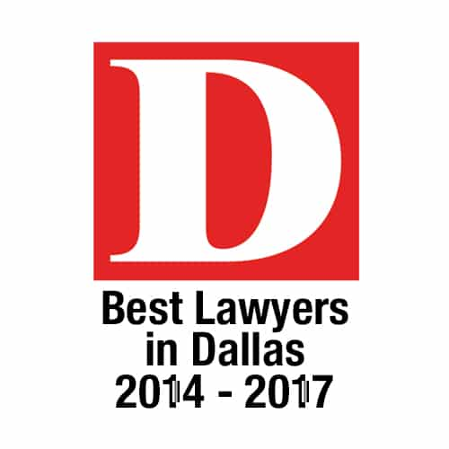 personal injury law - Tim O'Hare badge for D Magazine Best Lawyer