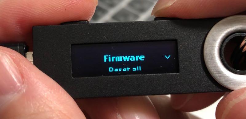 Ledger Nano S ファームウェア アップデートをしてみた