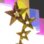 Image of a trophy with three stars on top.