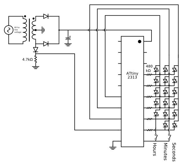 Avr Powered Binary Clock