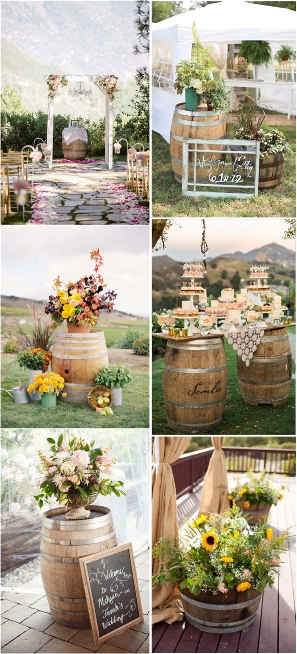 Winery themed wedding centerpieces junglespirit Image collections