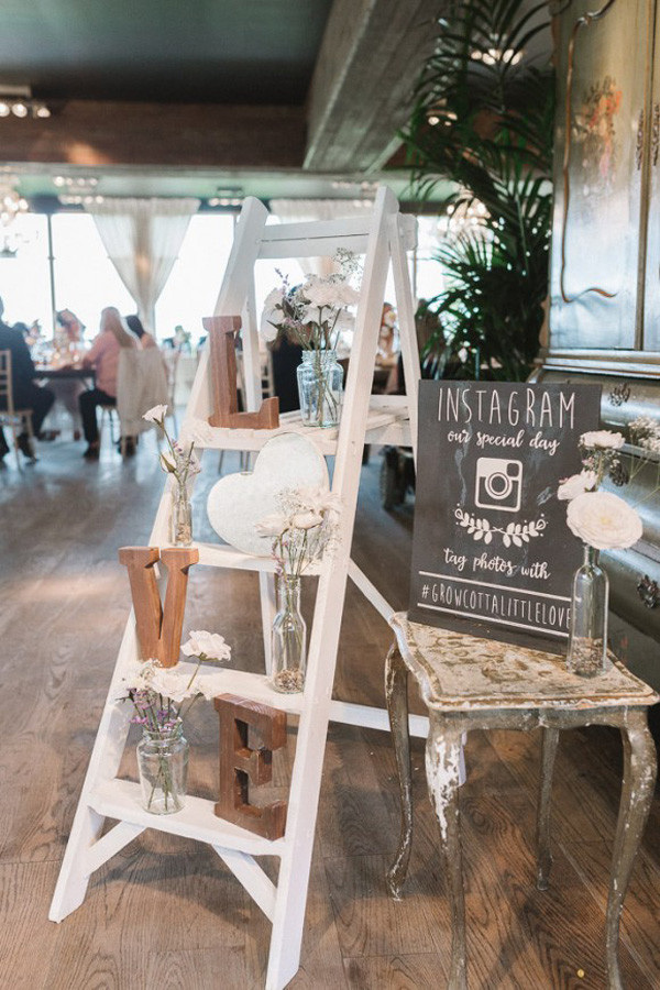25 Perfect Wedding Decoration Ideas With Vintage Ladders Oh Best Day Ever