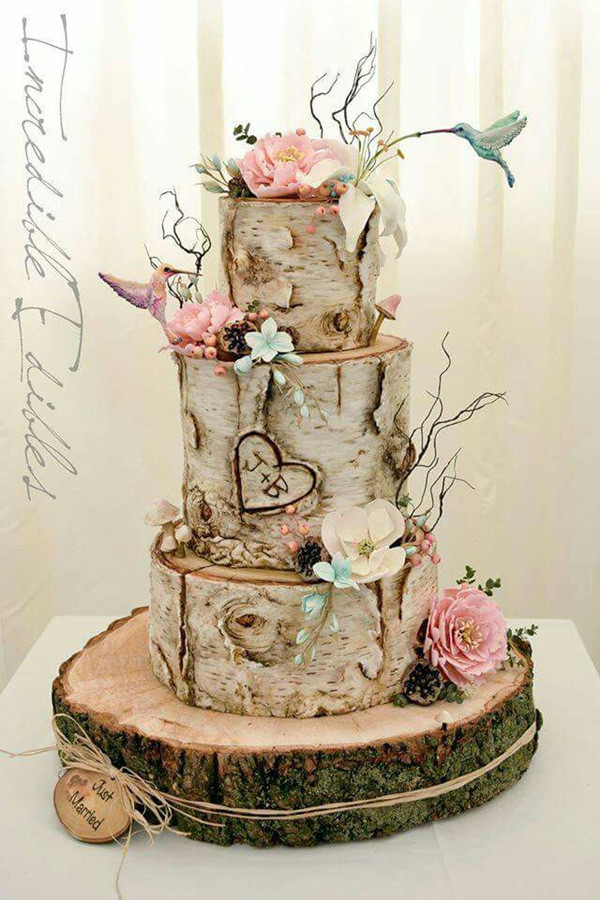 unique woodland wedding cake ideas for 2017   Oh Best Day Ever unique woodland wedding cake ideas for 2017