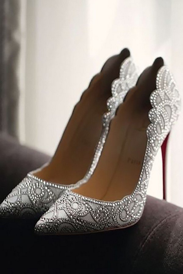 Silver Wedding Shoes Bridesmaids