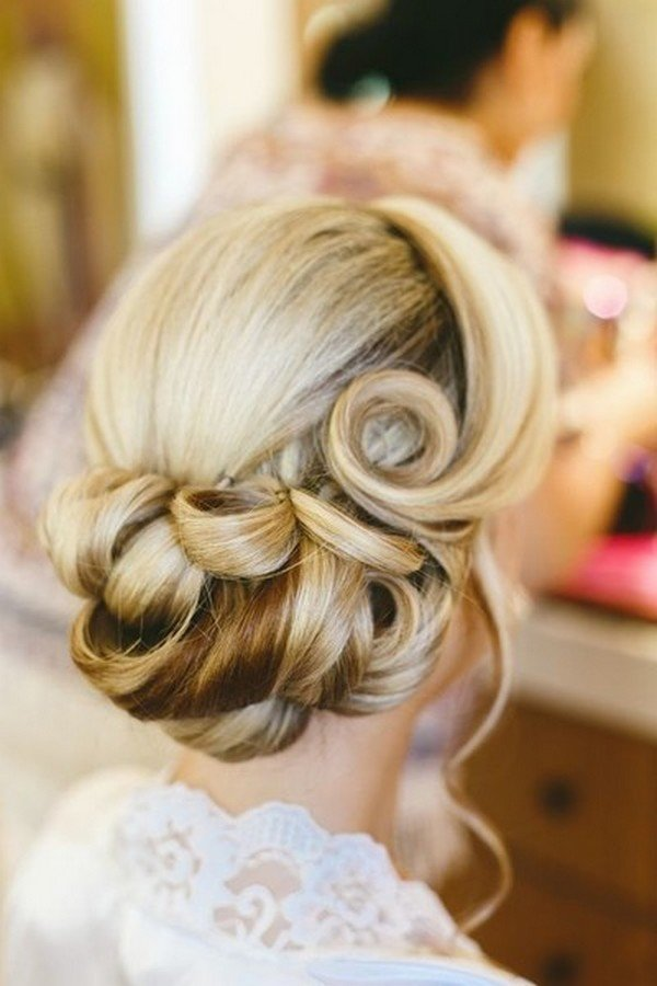 Beach Wedding Updos Flowers