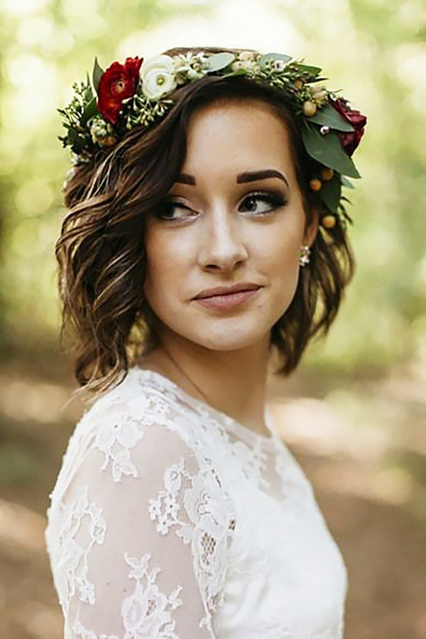 18 Gorgeous Wedding Hairstyles With Flower Crown Oh Best