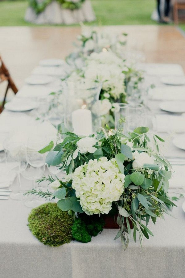 15 trending hydrangea and eucalyptus wedding centerpieces, i love you color pages