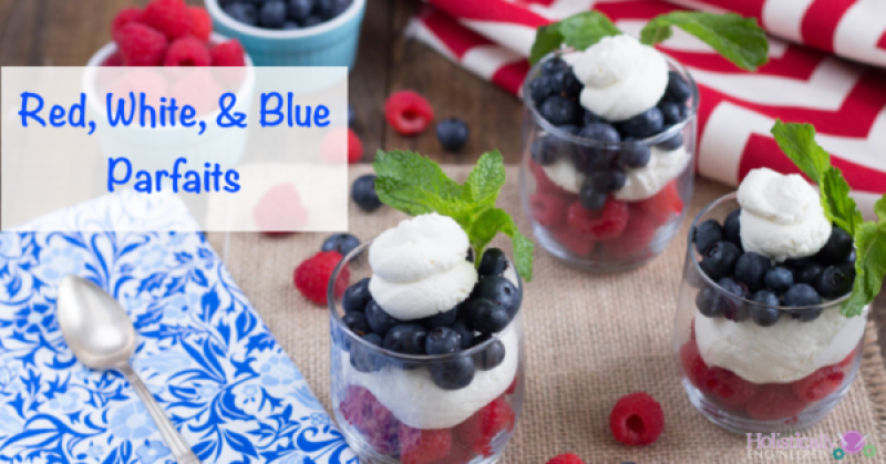 Red, White&Blue Parfaits | Looking for delicious low carb and Keto 4th of July Desserts? I've got the perfect treats for you! These 4th of July Keto desserts recipes are perfect for the celebration and will make sure you stay on track with your ketogenic diet while still enjoying mouthwatering sugar-free and low carb keto desserts. How to have a low carb 4th of July party. #ketodessert #lowcarbdessert #fatbombs #4thofjuly #4thofjulydesserts #4
