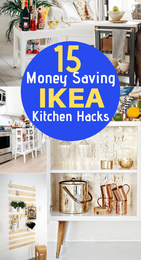Are you looking to upgrade your IKEA furniture with some simple hacks? These 15 Ikea Kitchen Hacks will make your kitchen gorgeous while staying on a budget! Ikea kitchen cabinets, ikea kitchen remodel, ikea kitchen ideas, ikea kitchen island, ikea kitchen hacks small spaces, ikea kitchen hacks storage, ikea kitchen hack cabinets, ikea hacks storage, ikea hack desk, ikea kitchen hack billy bookcases, ikea kitchen hacks kids, diy home decor, diy room decor, #ikeahack #ikeaideas #ikeakitchen