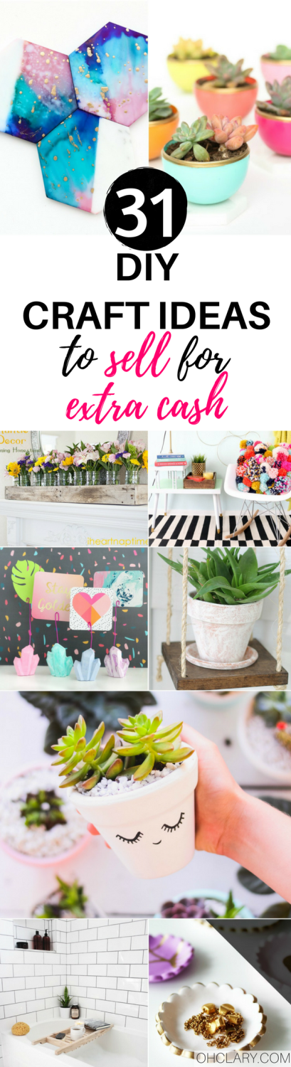 Selling your crafts can be very profitable. If only you knew what to make that people would actually pay money for! I have an ultimate list of 30+ hot craft ideas to sell to help you out! This list will be sure to help you find that something you have been looking for that you can DIY for a profit! Hot craft ideas to sell | Handmade craft ideas to sell | DIY craft ideas to sell | easy craft ideas to sell | craft ideas to sell for kids | craft ideas to sell for extra cash