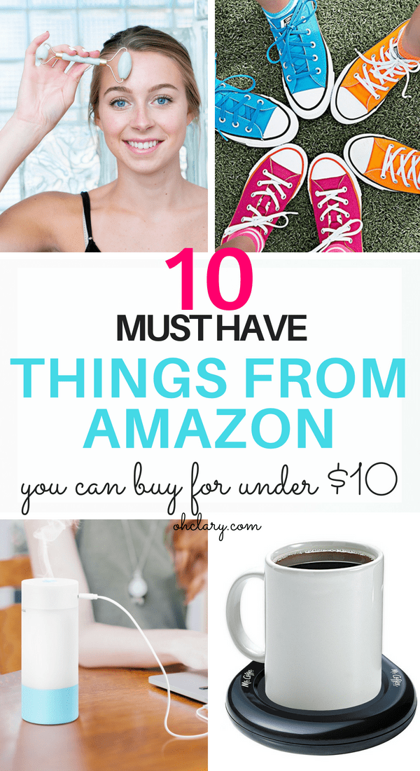10 Amazing things under $10 You need right now! Looking for some retail therapy but don't want to blow your budget? You can totally buy amazing stuff for less than 10. I have put together a list of things from Amazon under $10 dollars. All of these items are my personal favorite and make great cheap Amazon gifts for women, men, teens and for friends. Things to buy on Amazon #gifts #giftguide #amazon