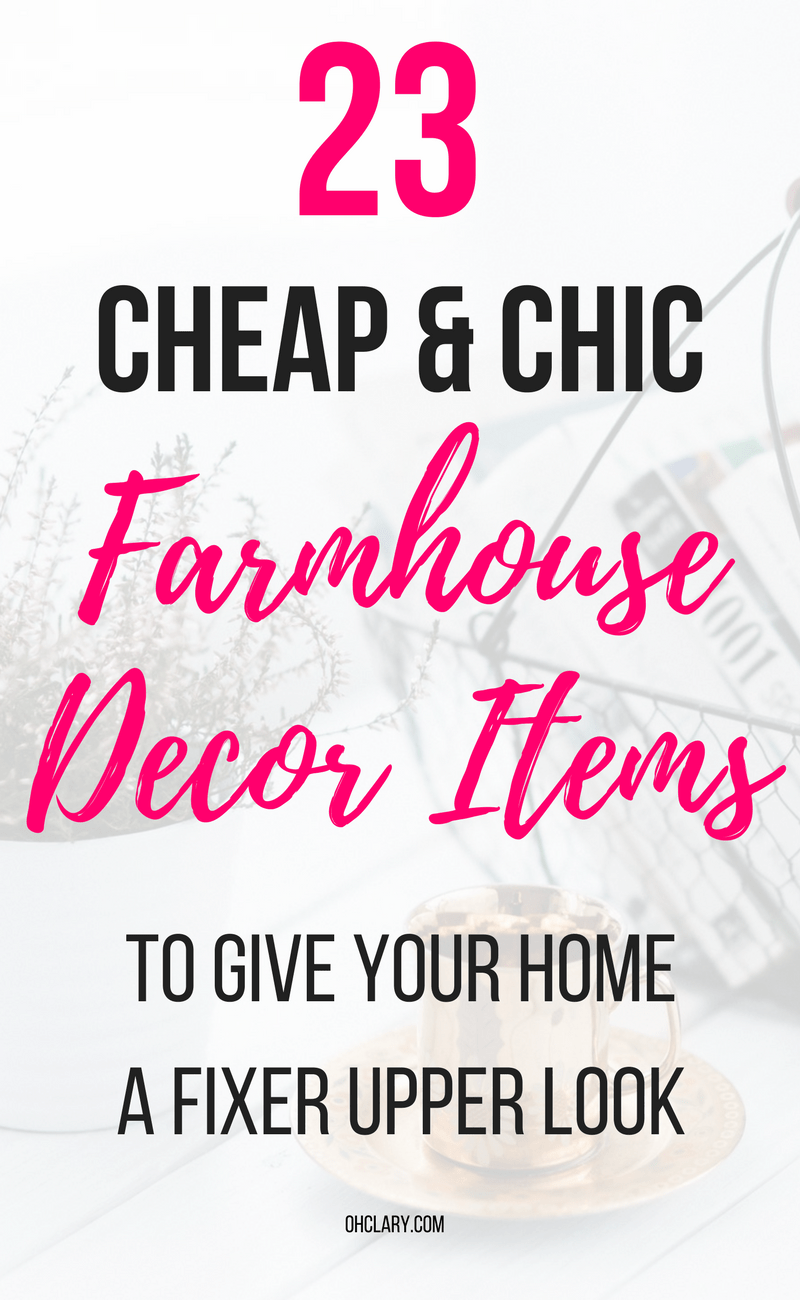 Are you looking for cheap farmhouse decor items but don't know where to buy farmhouse decor on a budget? I've got just the list for you! I have gathered all of my favourite rustic and vintage farmhouse decor items to this list. From beautiful farmhouse wall art to kitchen accessories! Get the fixer-upper look for cheap! Farmhouse decor living room, Joanna Gaines approved, Modern farmhouse decor #farmhousedecor