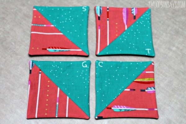 Easy Fabric Coasters by Swoodson Says - 14 Awesome DIY Crafts That Sell Well At Craft Fairs and On Etsy! These fast & easy to make handmade project ideas can be made by teens and are great for making money from home. Try these crafts that make money now and be amazed at how many people want to buy them!