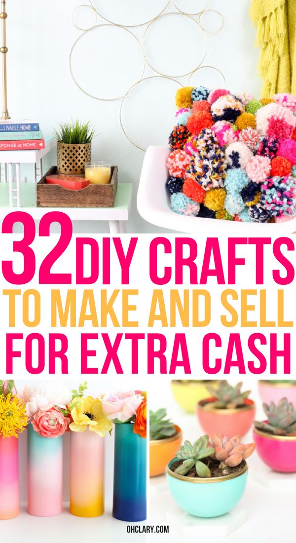 32+ Easy Crafts To Make And Sell For Extra Money From Home. These quick DIY crafts ideas are cheap to make and can be sold for a profit on Etsy. Perfect for kids, teens and adults alike. Start making some extra money from home today by making these hot craft ideas to sell!