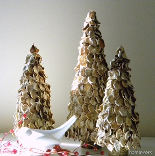 Potpourri Christmas Trees by Carolyn's Home Work - 30 Incredible Dollar Store DIY Christmas Decor Ideas. Easy to make decorations that you can do on a small budget. Make beautiful and easy centrepieces, ornaments, candle holders and mason jar crafts. These awesome Dollar Tree DIY Christmas crafts are simple enough to be made with your kids. Just click on this to find out more or pin for later!