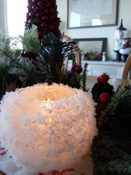 Snowball Votive Candle Holders Just Another Hang-Up - 30 Incredible Dollar Store DIY Christmas Decor Ideas. Easy to make decorations that you can do on a small budget. Make beautiful and easy centrepieces, ornaments, candle holders and mason jar crafts. These awesome Dollar Tree DIY Christmas crafts are simple enough to be made with your kids. Just click on this to find out more or pin for later!