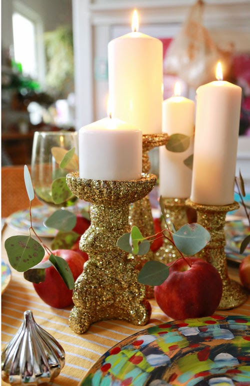 Double Sparkle No Shed Glitter Candle Sticks by I Love To Create - 30 Incredible Dollar Store DIY Christmas Decor Ideas. Easy to make decorations that you can do on a small budget. Make beautiful and easy centrepieces, ornaments, candle holders and mason jar crafts. These awesome Dollar Tree DIY Christmas crafts are simple enough to be made with your kids. Just click on this to find out more or pin for later!