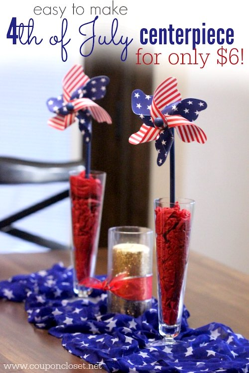 Cheap 4th of July Decorations - Easy Centerpiece