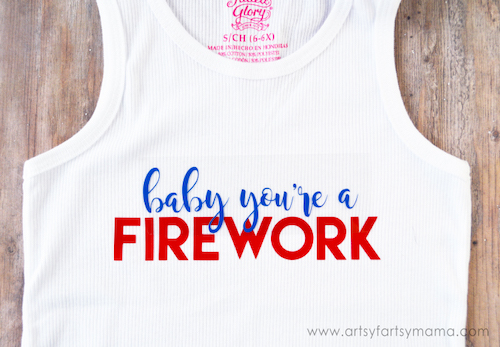 4th Of July Firework Tank Top- DIY 4th of July Crafts to Sell