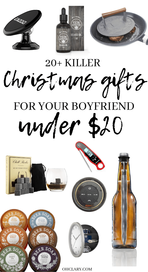 20 Cheap gifts for him for Christmas! Perfect as inexpensive stocking stuffers! These meaningful and romantic presents are great for boyfriends, fiance, and husbands. Thoughtful and funny gifts on a budget for dad or your teen brother! If you don't know what to get him, check out my cheap Christmas gifts for him for great ideas! #giftsforhim #christmasgifts