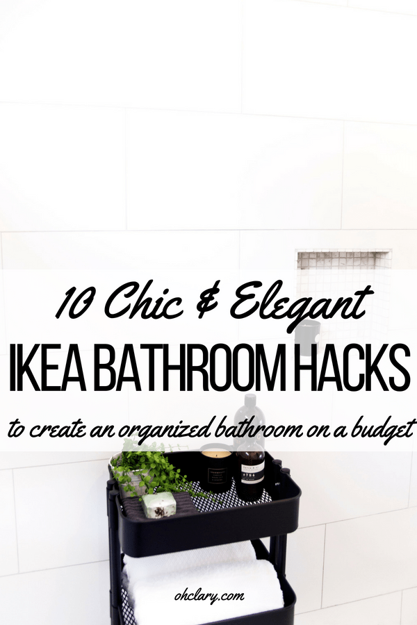 These 10 genius IKEA bathroom hacks are guaranteed to organize and beautify your bathroom. DIY projects for your bathroom vanity and sink. You can create beautiful home decor on the cheap using these IKEA hacks. Turn your bathroom into a palace! #ikeahack #ikea