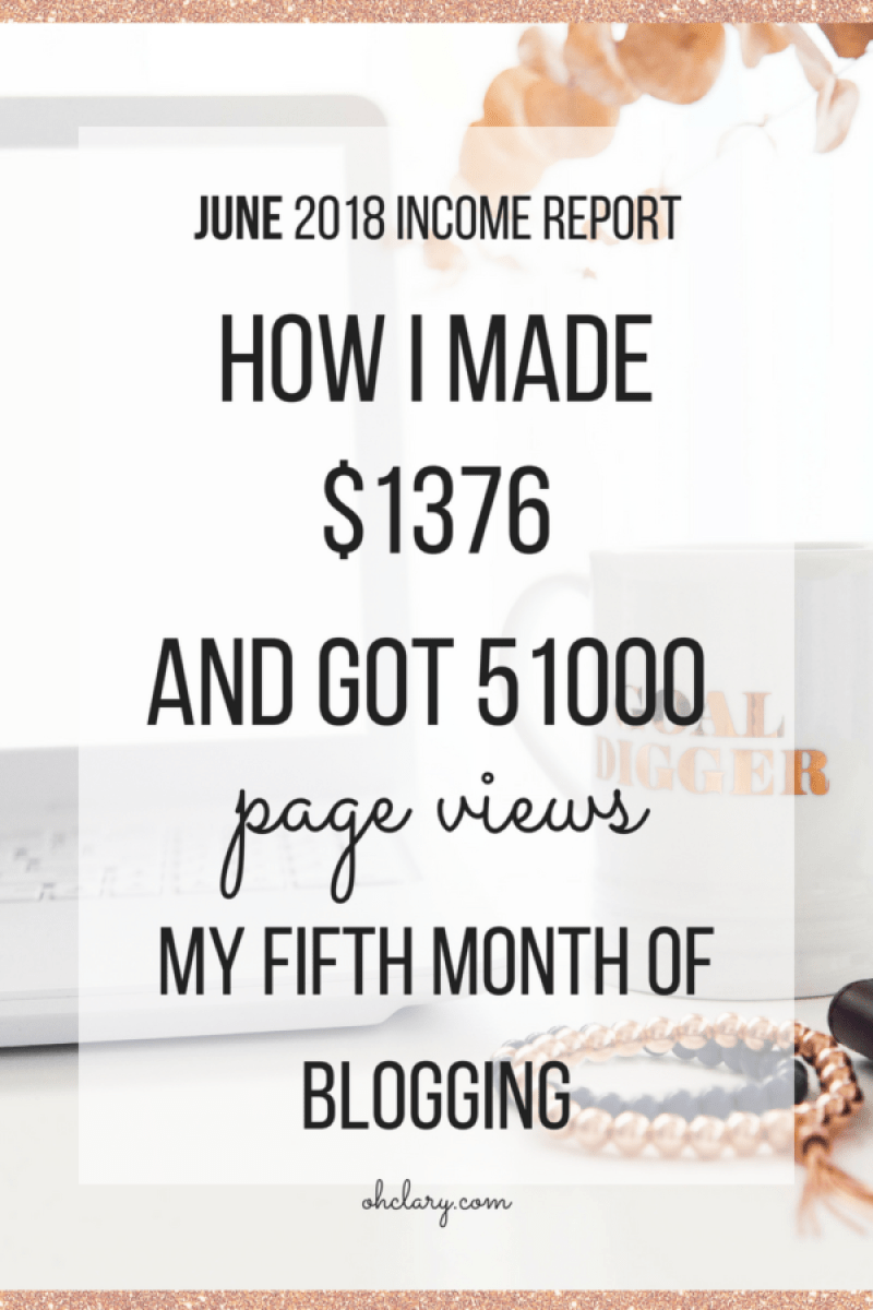 Welcome to my fifth blog income report. This is the fifth month my blog has made money. I love to share my results on how to make money blogging. You can totally make money blogging within a few months of starting a blog. Working from home has never been easier and even beginners like me can do it fast.