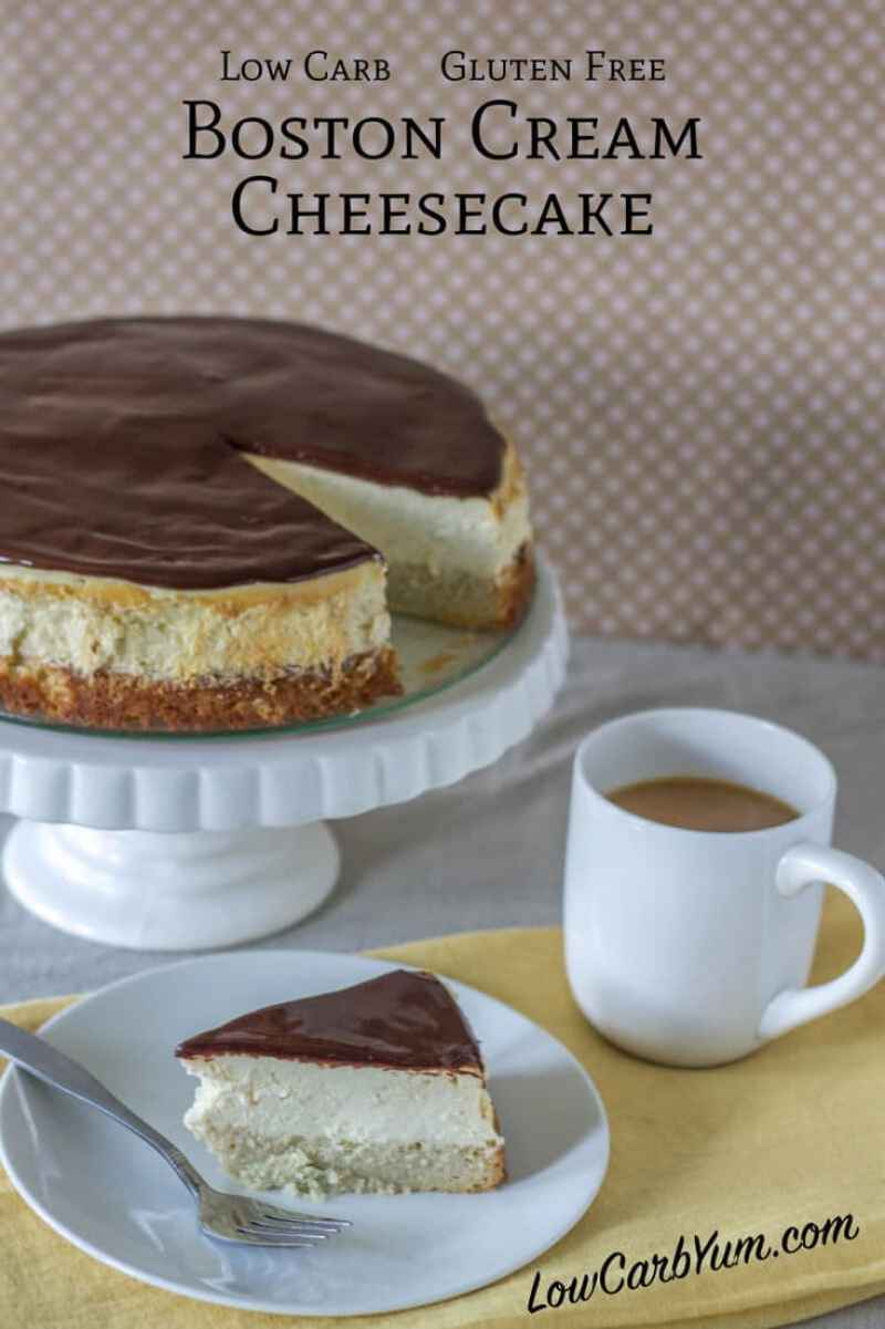 Low Carb Boston Cream Cheesecake | #ketorecipes #ketodiet #ketocheesecake #ketodessert #lowcarbdessert #ketosweets #lowcarbsweets