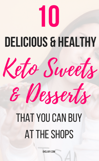 10 Delicious Keto Desserts and Sweets you can buy when you are on the go! The yummiest keto desserts recipes that are quick and delicious. These ketogenic desserts include chocolate, peanut butter and cream cheese. No bake keto fat bombs that will keep you body in ketosis all day long, even if you are too busy to cook the meals. Low carb desserts, Keto desserts to buy, keto sweets to buy #ketodesserts #fatbombs #ketochocolate #lowcarbsweets #ketosweets #ketobrownies #ketocookies