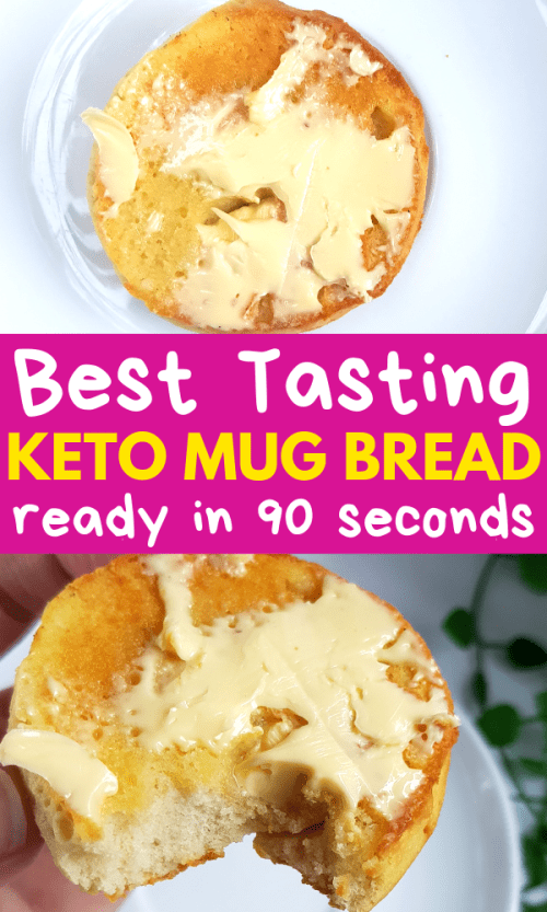 Learn how to make super fast and easy microwave keto cup bread that tastes like REAL THING! Try this 90-second ceto bread as a garnish with your bacon and keto ketone eggs or take this 90-second ceto bread with cream cheese or butter!
