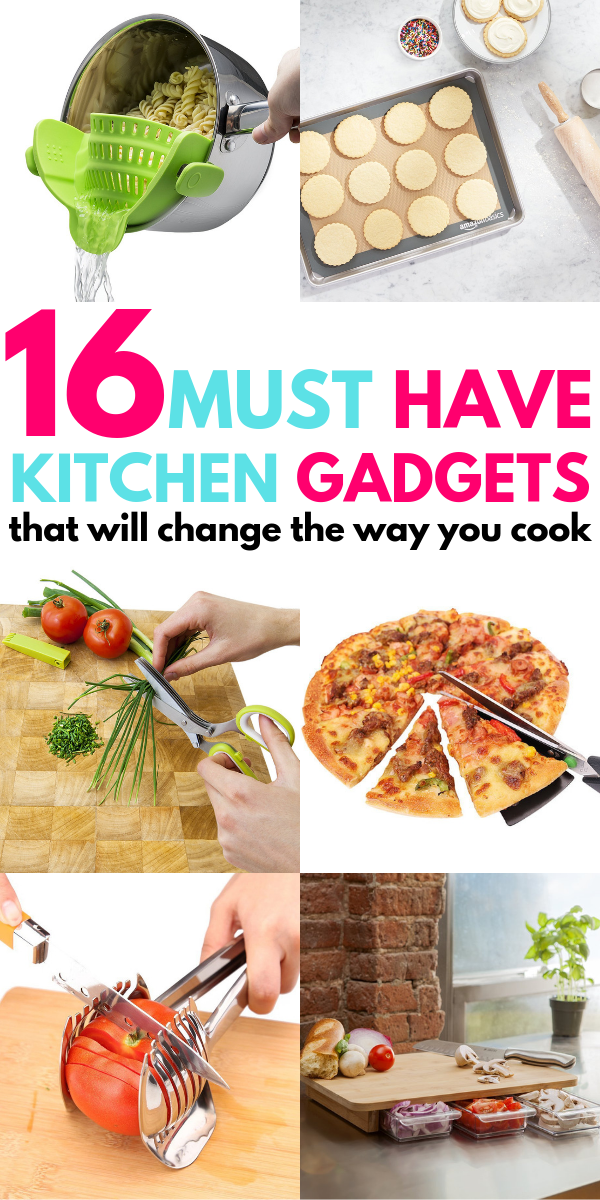 Must Have Kitchen Gadgets That Will Make You Fall In Love With Cooking And Baking Again! These great tools and products are awesome and make it easy to cook healthy food for your family! Cheap things for your kitchen or to give as a housewarming gift to your loved ones.