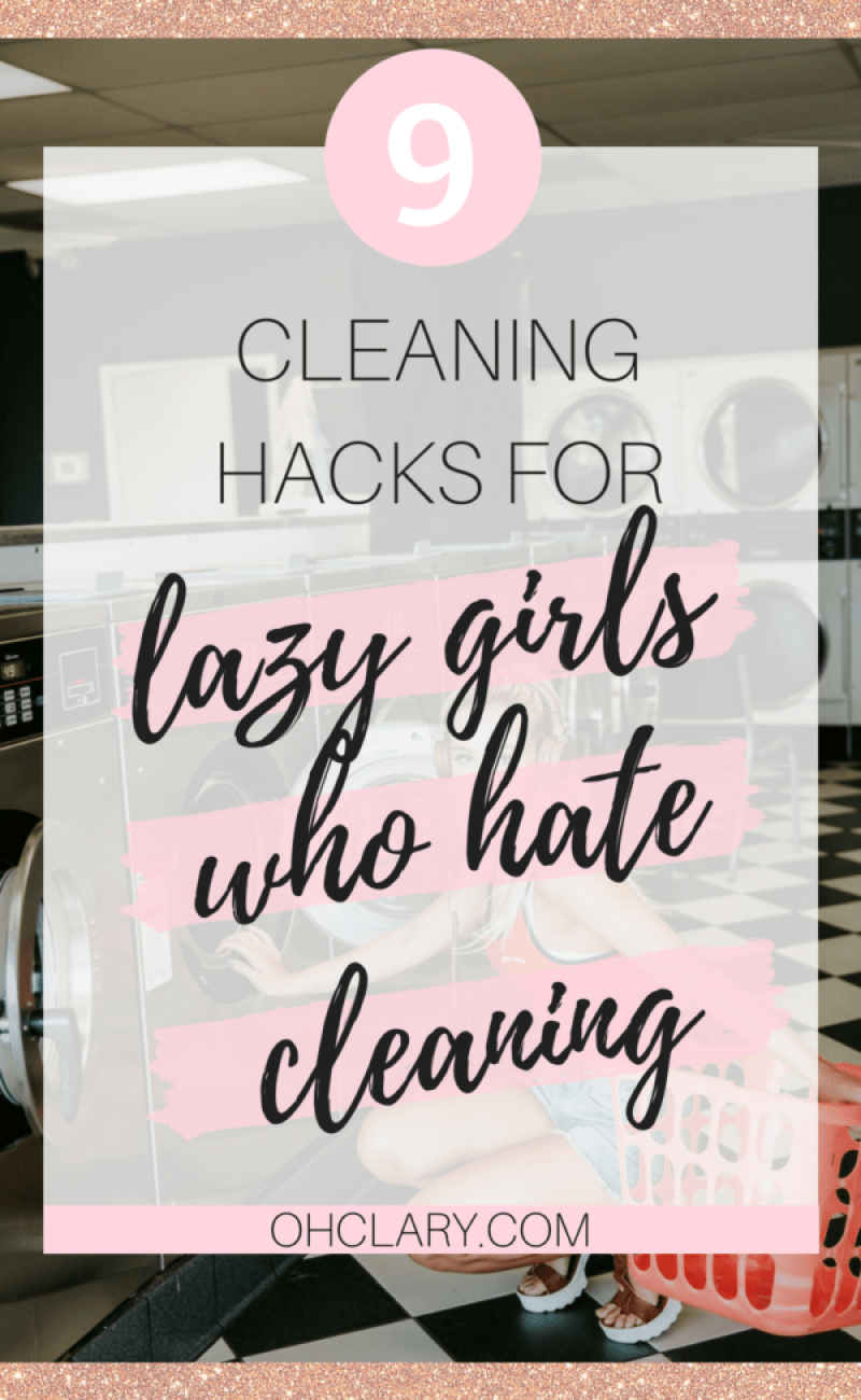 9 Cleaning Hacks for Lazy Girls Who Hate Cleaning. These are some of my favourite hacks I use on how to stop being lazy and clean my house. Hope they motivate you as much as they do for me! Ps, number 9 is my favourite! Cleaning Hacks, Cleaning Tips #cleaningtips #cleaninghacks #springcleaning