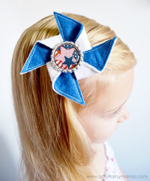Pinwheel Hair Clip- Awesome summer crafts to sell