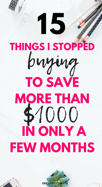Wow I wish I knew these great Ideas and tips on things to stop buying useless things to save your money in your 20s fast earlier. It's easy to be broke as a millennial but there are so many useless things you can stop buying to save your money for a house, a car or a vacation instead. Dave Ramsey approved money saving hacks. #savemoney #millenianmoney #savingmoney #financialfreedom #getoutofdebt #frugalliving