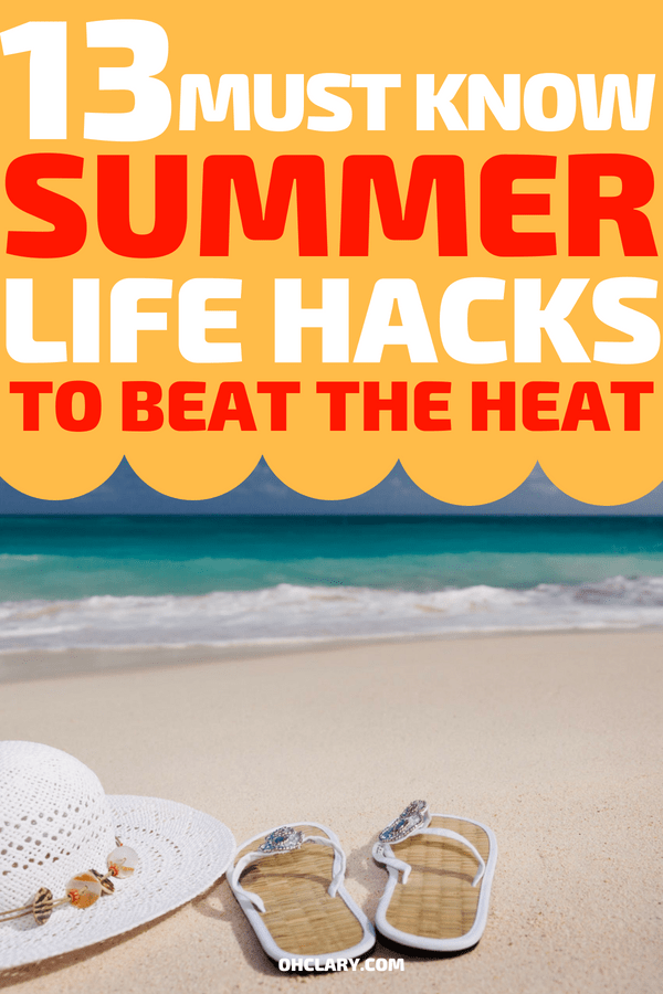 WOW! I wish I knew about these summer life hacks last year! 13 fun and clever summer life hacks and tricks to make the summer of 2018 the best one yet. These DIY hacks for teens, kids, and parents are perfect for staying cool. Doesn't matter if you're by the pool or at the beach. #lifehacks #beach