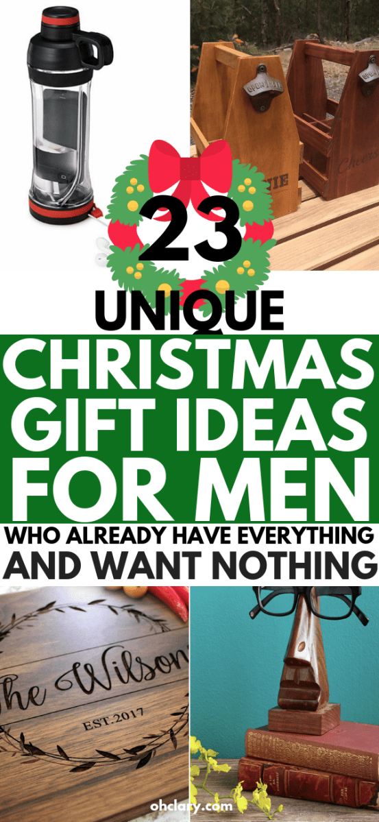 23 Creative and Unique Christmas Gifts For Him. Perfect as inexpensive stocking stuffers! These meaningful and romantic presents are great for boyfriends, fiance, and husbands. Thoughtful and funny gifts for dad of your teen brother! If you don't know what to get him, check out my Christmas gift ideas for him for great ideas!