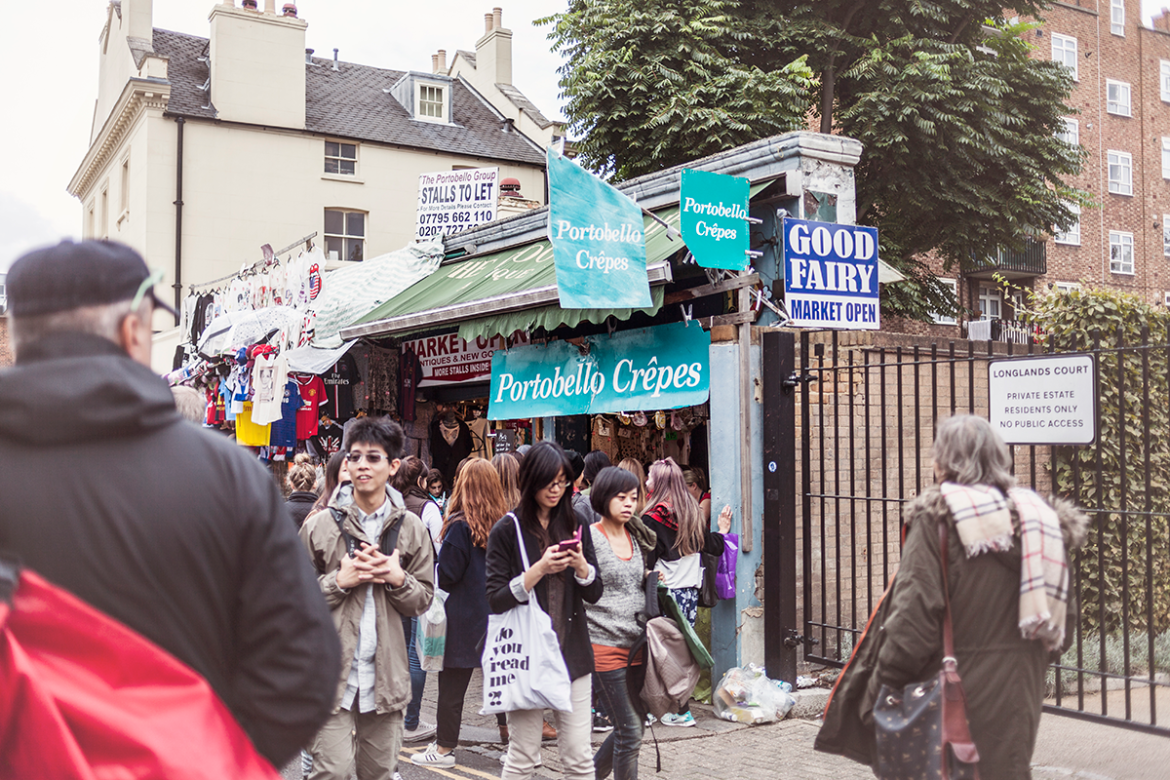 Portobello Market - this is where I found the most amazing crepes!