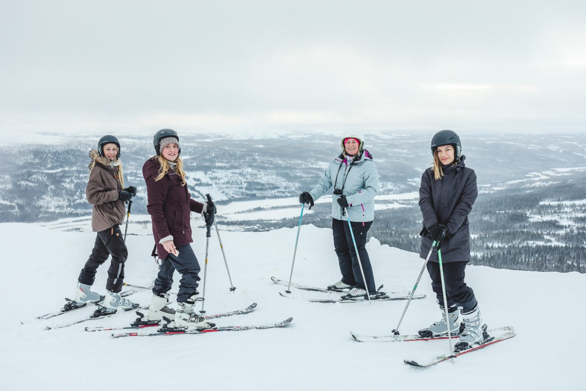 Jonna Jinton Elin Kero Linda Hörnfeldt Emilia Westerström // Winter Workation i Åre med Influencers of Sweden