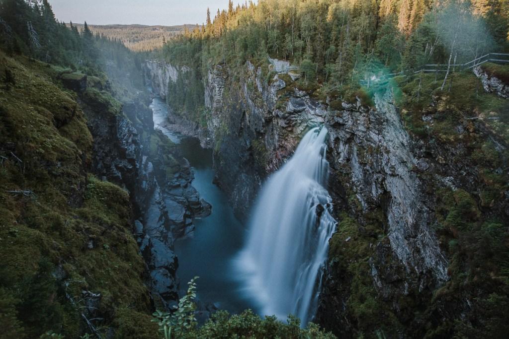 Hällingsåfallet Vildmarksvägen Jämtland