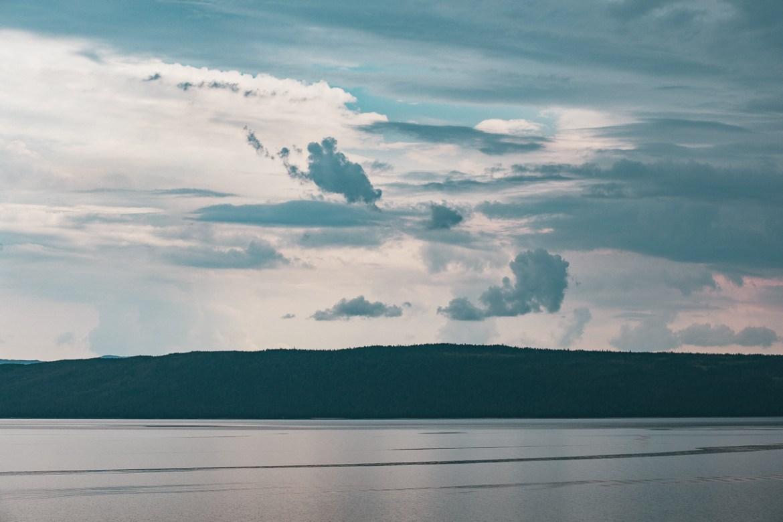 Stora Blåsjön Vildmarksvägen Sverige