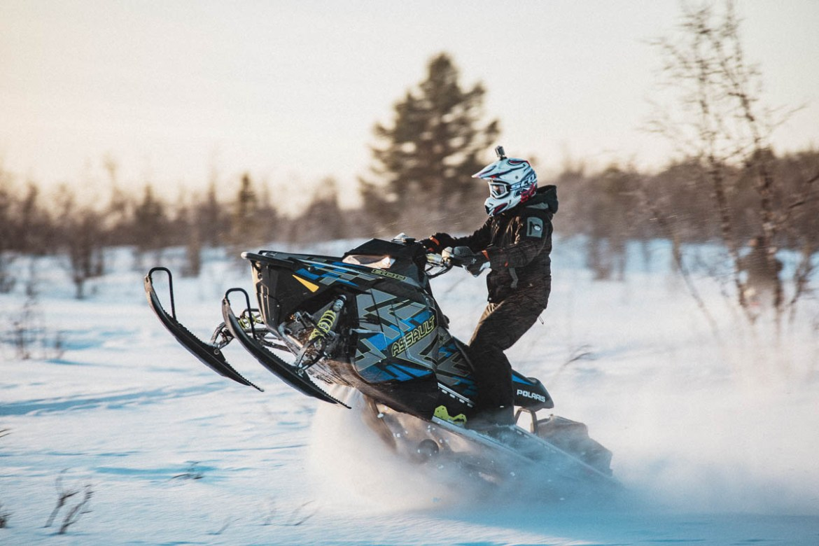 Snowmobile Kiruna Swedish Lapland