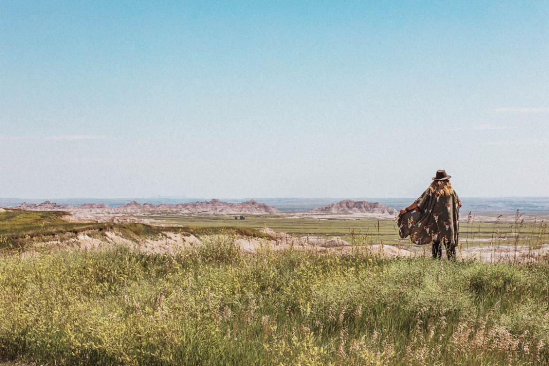 Badlands National Park i South Dakota.