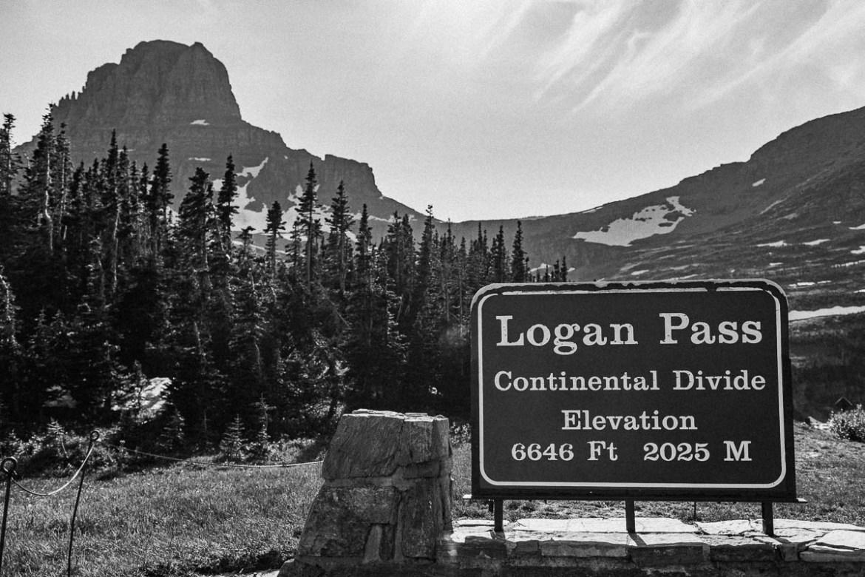 Continental Divide Logan Pass Glacier Montana