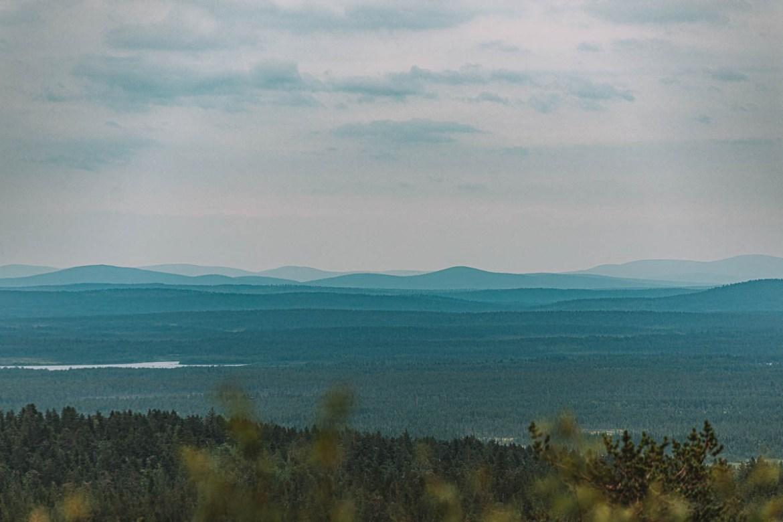 Utsikt från Tynnyrilaki | Struves meridianbåge | UNESCO Världsarv i Sverige