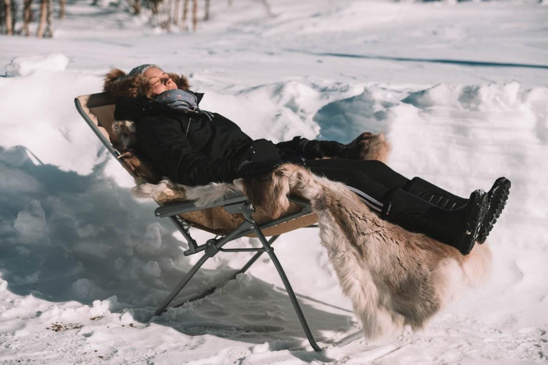 Jennifer Sandström i Tjautjas, Lappland