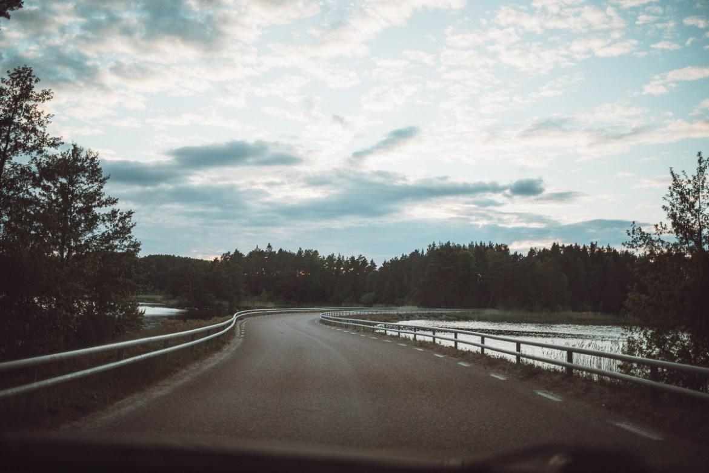 vackra Övägen till Ön